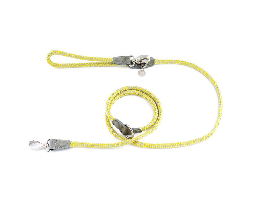 Verstellbare Hundeleine Hafen Yellow